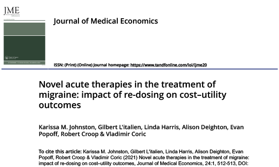 Novel acute therapies in the treatment of migraine: impact of re-dosing on cost–utility outcomes