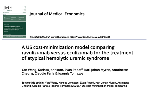 A US cost-minimization model comparing ravulizumab versus eculizumab for the treatment of atypical hemolytic uremic syndrome