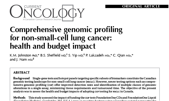 Comprehensive genomic profiling for non-small-cell lung cancer: health and budget impact
